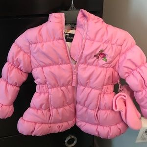 Baby Girls Puffy Coat Size 18M NWT